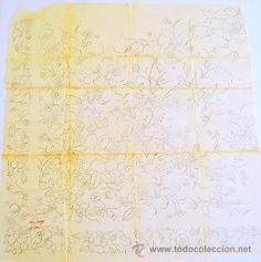 DIBUJO CHINO PARA MANTÓN DE PRINCIPIOS DEL SIGLO XX (60X60CM) (Arte - Dibujos - Contemporáneos siglo XX)