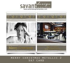 Metallica Christmas - I wanted to step out of the box this year and love the metallic look for some of my Christmas/Holiday card templates.  I really like the modern feel with a little quirky whimsy in this set