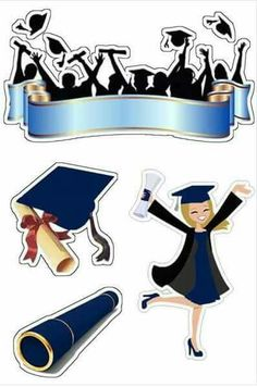 43 Ideas party graduation card for 2020 Graduation Images, Graduation Theme, Graduation Cards, Graduation Cartoon, Graduation Quotes, Printable Stickers, Free Printable, Paper Cake, Birthday Cake Toppers
