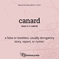 Canard   Word Of The Day | Dictionary.com
