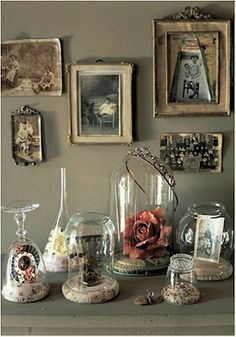 Improvised bell jars -  Bell Jars and Belle Displays