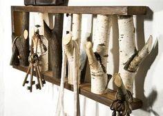 Cooles DIY Schlüsselbrett aus Ästen. Garderobe und Schlüsselbrett in einem