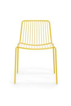 Metal #garden #chair Nolita 3650 - PEDRALI #yellow