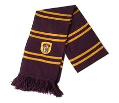 Harry Potter Gryffindor Thicken Wool Knit Scarf Wrap Soft Warm Costume