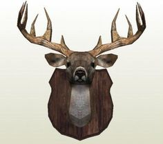 Deer Head Wall Hanging Ver.2 Free Papercraft Download - http://www.papercraftsquare.com/deer-head-wall-hanging-ver-2-free-papercraft-download.html#Deer, #Head, #WallHanging