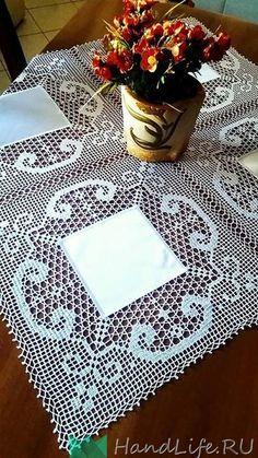 Crochet Doily Diagram, Crochet Lace Edging, Crochet Borders, Filet Crochet, Lace Doilies, Crochet Doilies, Crochet Tablecloth, Free Sewing, Lace