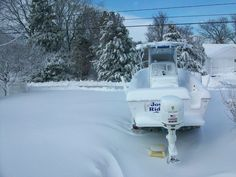 Has this ever happened to you? This person really needed a boat cover! http://www.wholesalemarine.com/c/1300/Boat+Covers.html #boating, #snow, #wholesalemarine