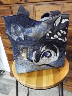Sac Annie en jean recyclé cousu par Nadege - Patron Sacôtin