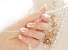티파니 네일아트 [글로시 셀프네일] 화이트그라데이션 네일 웨딩네일아트 - 소녀시대 네일아트 : 네이버 블로그