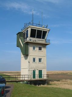 The control tower at the bombing range. No airfield here, just acres of marsh and some big targets for fast jets and helicopters to practice on.