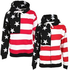 Keep it cozy with a hoodie that is red, white, and you! This soft cotton blend sweatshirt features a hood lined with stars, metal drawstring grommets for durability, and pockets up front to keep your hands warm.