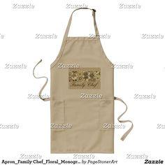 Apron_Family Chef_Floral_Monogram-Template_ Long Apron