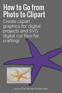 How to go from Photo to Clip Art Digital Graphic or Digital Cut File