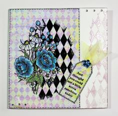 Just catching up with blogging a few more of my recent show samples created for Chocolate Baroque on Hochanda. This one was created with the Harlequin Bouquet and Loving Sentiments stamps. Anne Waller #chocolatebaroque #stamping #cardmaking