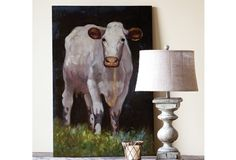 Cow Oil Paintings | Oil Painting Cows | Painting Of A Cow | Cows Painting