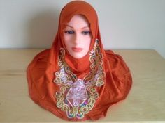 Easy to Wear One Piece Glitter Front Hijab. Easy to Wear Hijab. One size fits all with stretchy fabric and good for everyday wear and all occasions. More at http://suliaszone.com/easy-to-wear-one-piece-glitter-front-hijab/