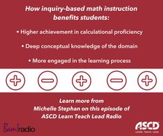 Inquiry-based math instruction has many benefits for students. Learn more on this podcast episode. Higher Achievement, Instructional Design, Educational Leadership, Learning Process, Numeracy, Knowledge, Students, Science, Teaching