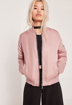 84995f876b Missguided - Soft Touch Bomber Jacket Pink - CA 48.75 Rose Bomber Jacket