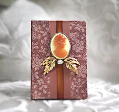 Bride Keepsake Calendar Book Dates to Remember Wedding Goddess Cameo Rust Rustic Woodland Leaf Leaves Flowers Birthday Anniversary Record. $90.00, via Etsy.
