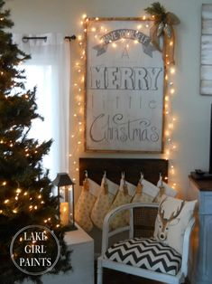 Easy Christmas Decor From simple to amazing Superb concept to form a super exciting yet charming simple christmas decor diy craft ideas . Decor tip provided on this moment 20190120 , exciting post reference 1977113849 Merry Christmas Sign, Merry Little Christmas, Simple Christmas, Winter Christmas, Cottage Christmas, Winter Holidays, Happy Holidays, Homemade Christmas Decorations, Xmas Decorations