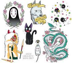 you wonderful moon ray! - gillotto:   Studio Ghibli flash tattoos (1/?)