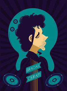 Illustration of Gustavo Cerati on Behance. Rodolfo Jofre
