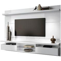 Compre HB Móveis : Painel Suspenso com Bancada Livin 2.2 Branco - HB Móveis por R$619,40 - MPozenato