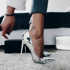 silver heels / stilettos / pumps / women's shoes from Missglobo Lace Up Heels, Pumps Heels, Stiletto Heels, Stilettos, Aldo Heels, High Heel Pumps, Women's Shoes, Me Too Shoes, Shoe Boots