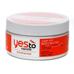 yes to carrots body butter - simple clean scent that's not too strong. Absorbs faster than most body butters I've tried and doesn't feel greasy.