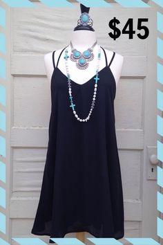 Little black breezy dress