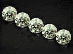 NAT- WHITE DIAMOND-3.5MMSIZE-- 5PCSLOT-APP-0.15SIZE EACH