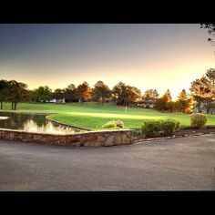 April Morning looking over the 18th Green at Fox Den Country Club.