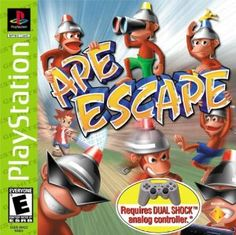 Ape Escape: 1st PS1 game that really made good use of the Dual Shock analog sticks.