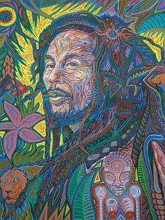 Bob Marley Portrait Giclee print limited Edition by Psicodelico on Etsy Psychedelic Drawings, Psychedelic Rock, Bob Marley Art, Bob Marley Pictures, Original Paintings, Original Art, Rock Art, Weed, Saatchi Art