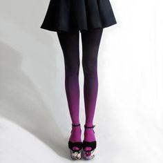 カラータイツ Fuschian Violet