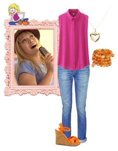 """30 Day DisneyBound Challenge | Day Eighteen | Your Favorite Disney Show | Lizzie McGuire"" by alyssa-mae13 ❤ liked on Polyvore"