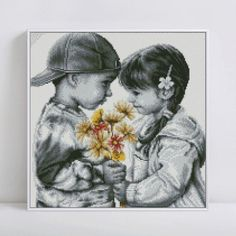 Fast delivery diamond Embroidery Two kids diy diamond painting flower cross stitch for children puzzle mosaic crafts Cross Stitch Art, Cross Stitching, Cross Stitch Embroidery, Cross Stitch Patterns, Hobbies And Crafts, Fun Crafts, Lily Pictures, Mosaic Crafts, Home Decor Pictures