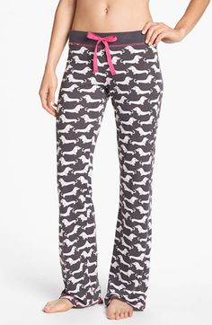 COZY ZOE Knit Lounge Pants available at #Nordstrom I love my dachshund jamma pants!