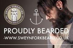 Proudly Bearded by Sweyn Forkbeard. 100% Natural & Organic Beard Care Products  (Beard Oils, Balms & Shampoo, Moustache Wax, After Shave Balm, Shaving Cream, Clothing, Wooden Gift Boxes...) #bearded #beardoil #beardcare #barba #barbudo #gift #mensfashion