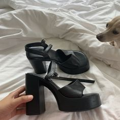 On hold for The most hectic ALDO platforms. A few scuffs and the leather is aged. Dr Shoes, Swag Shoes, Hype Shoes, Me Too Shoes, Shoes Heels, High Heels, Sneakers Fashion, Fashion Shoes, Heeled Boots