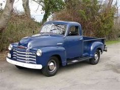 1951 chevy truck -just the right color!