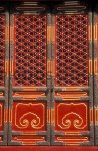 Ornate red door, China www.wilburandgussie.com