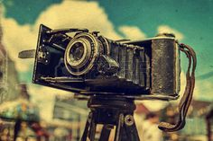 Picture of Old photo camera. Image digitally manipulated as one old photo. stock photo, images and stock photography. Old Photos, Binoculars, Stock Photos, Digital, Image, Photography, Old Pictures, Photograph, Vintage Photos