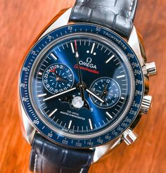 Omega Speedmaster Moonwatch Co-Axial Master Chronometer Moonphase Chronograph Watch Review