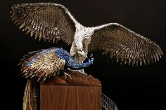 This sculpture by Laurel Roth is made of fake nails, nail polish and bobby pins. Art made with found objects, by artist Laurel Roth. Colossal Art, Found Object Art, Beauty Art, Beauty Supply, Beautiful Birds, Amazing Art, Art Projects, Sculptures, The Incredibles