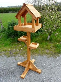 Terrific Pics hanging Bird Feeders Strategies : Prime hint: with regard to an increasingly natural looking feeder, look at smearing lots of people on the lines plus teeth cavities with cherry cones,. Wood Bird Feeder, Bird Feeder Plans, Bird House Feeder, Hanging Bird Feeders, Homemade Bird Houses, Homemade Bird Feeders, Bird Houses Diy, Platform Bird Feeder, Bird Tables