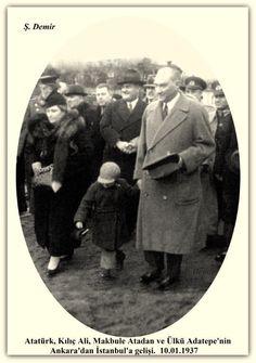 Atatürk, kılıç Ali, Makbule Atadan ve Ülkü Adatepe İstanbul'da. 10.01.1937