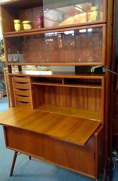 Mid Century Modern Kurt Ostervig Signed Desk / Wall Unit Set