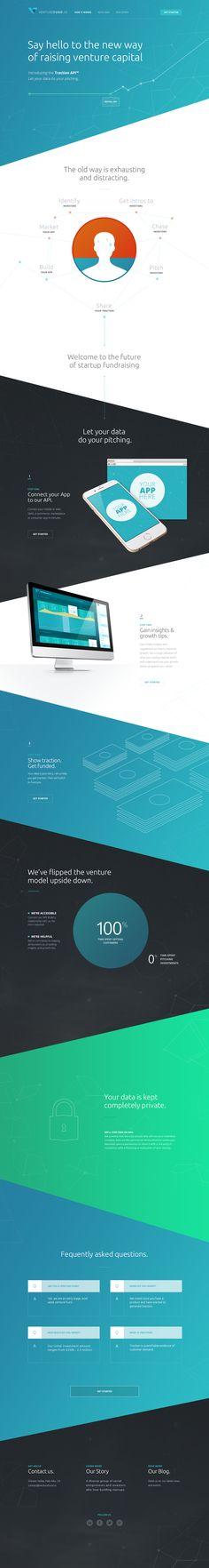 One Page Portfolio For Web Designerdeveloper And Opera Signer - Venture capital website template