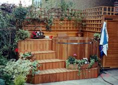 Image result for Hot Tub Wood Surrounds